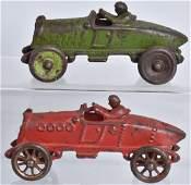2-CAST IRON TOY A.C. WILLIAMS RACE CARS