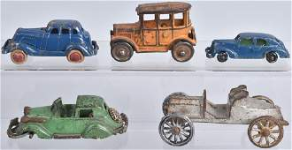 5CAST IRON TOY AUTOS HUBLEY and MORE