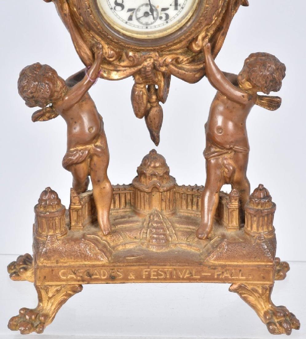 1904 ST LOUIS EXPO CASCADES & FESTIVAL HALL CLOCK - 3