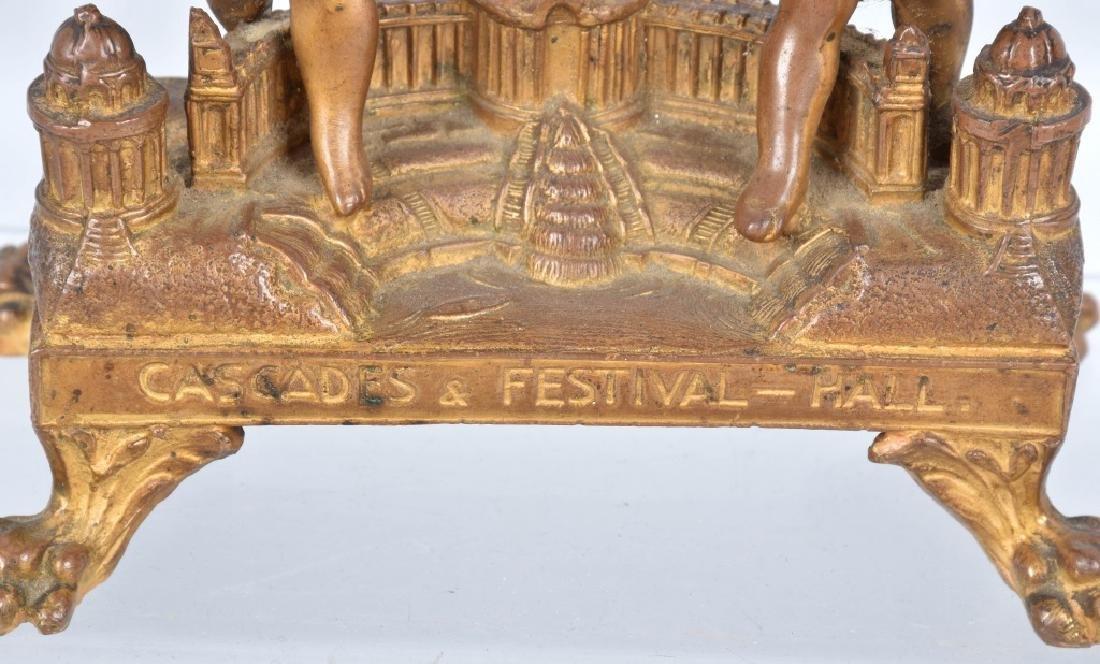 1904 ST LOUIS EXPO CASCADES & FESTIVAL HALL CLOCK - 4