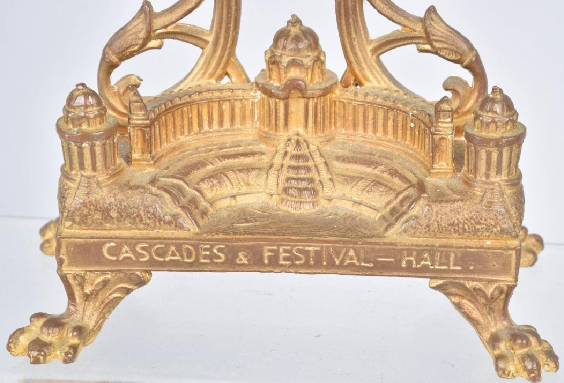1904 ST LOUIS EXPO CASCADES & FESTIVAL HALL CLOCK - 4