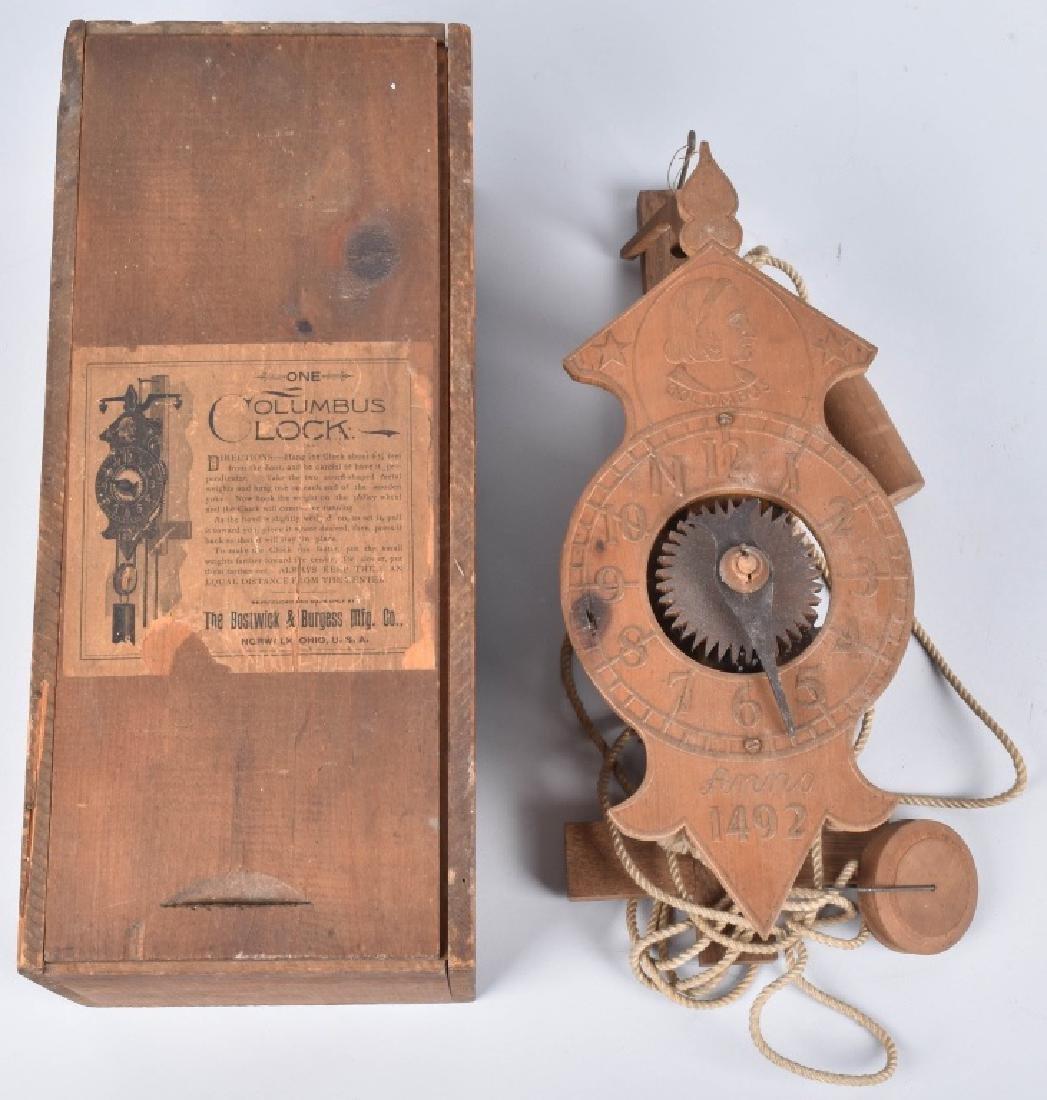 1892 COLUMBUS EXPO BOSTWICK & BURGESS CLOCK w/BOX