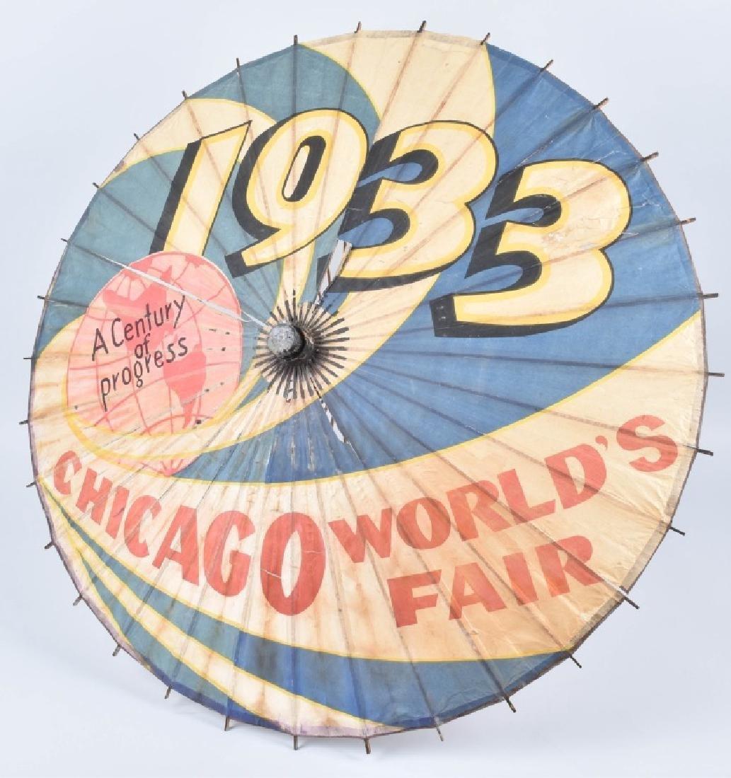 1933 CHICAGO WORKS FAIR UMBRELLA