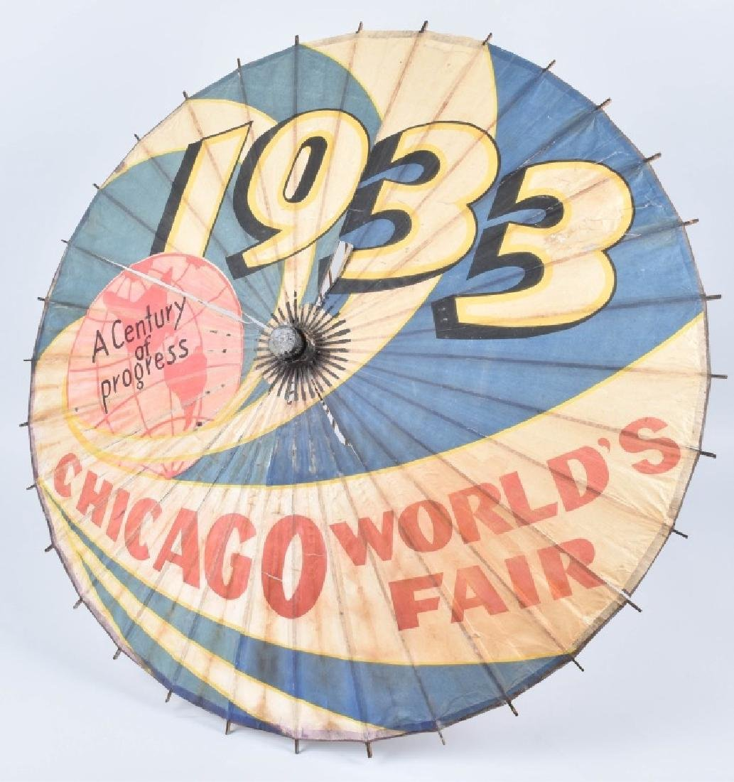 1933 CHICAGO WORKS FAIR UMBRELLA