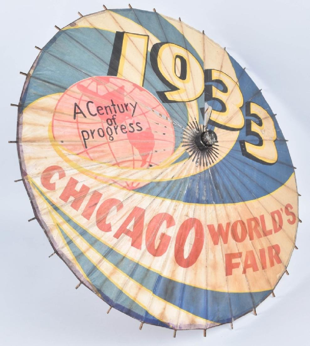 1933 CHICAGO WORKS FAIR UMBRELLA - 2