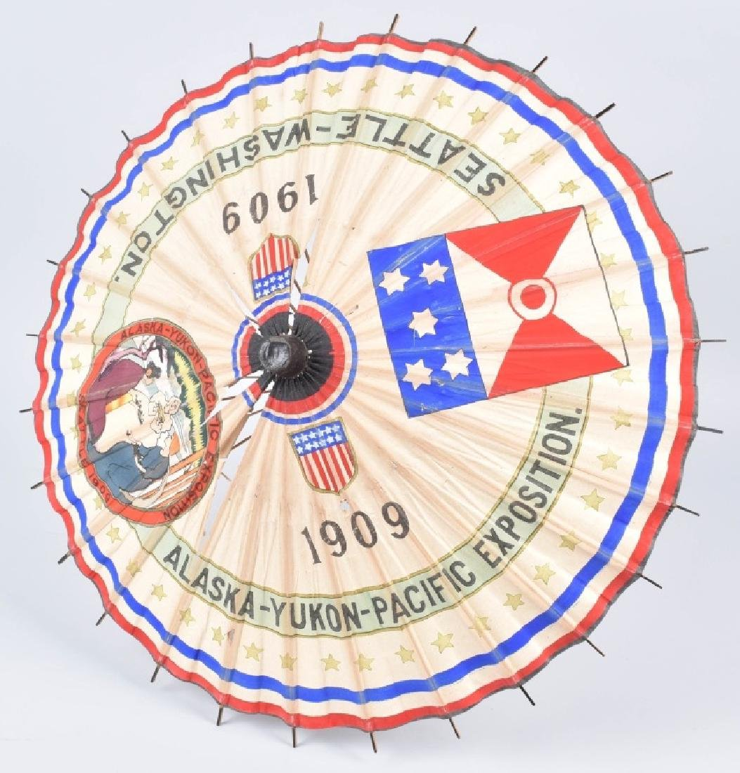 1909 ALASKA-YUKON-PACIFIC EXPO SOUVENIR UMBRELLA