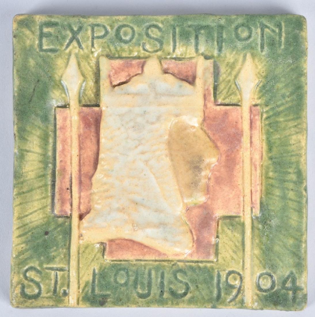 1904 ST LOUIS EXPO SOUVENIR CERAMIC TILE