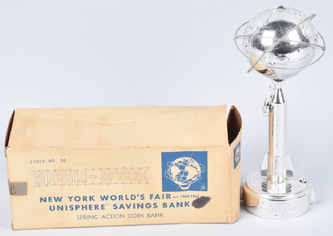 1964-65 NEW YORK WORLDS FAIR UNISPHERE BANK w/BOX