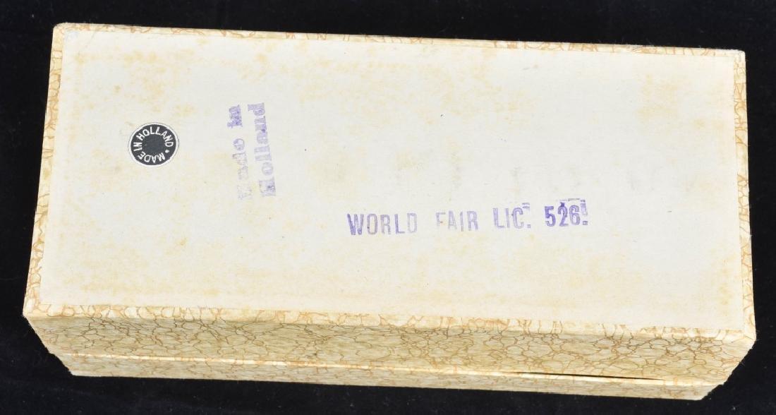 1939 NEW YORK WORLDS FAIR GLASS COASTER SET w/ BOX - 4