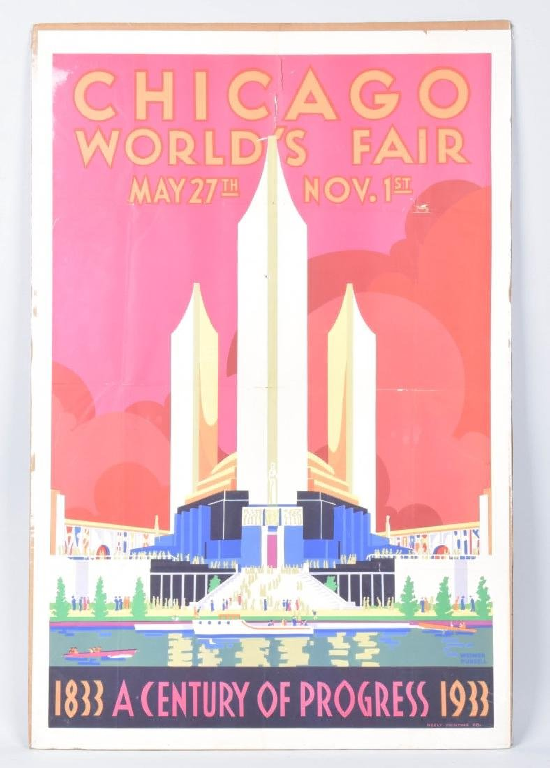 1933 CHICAGO WORLDS FAIR POSTER By Weimer Pursell