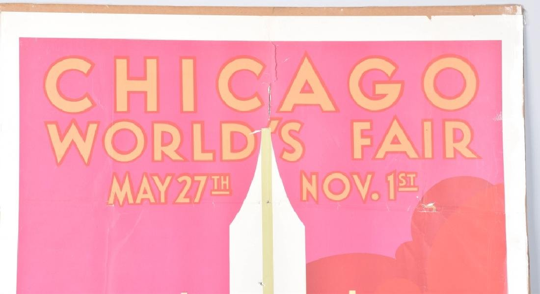 1933 CHICAGO WORLDS FAIR POSTER By Weimer Pursell - 2
