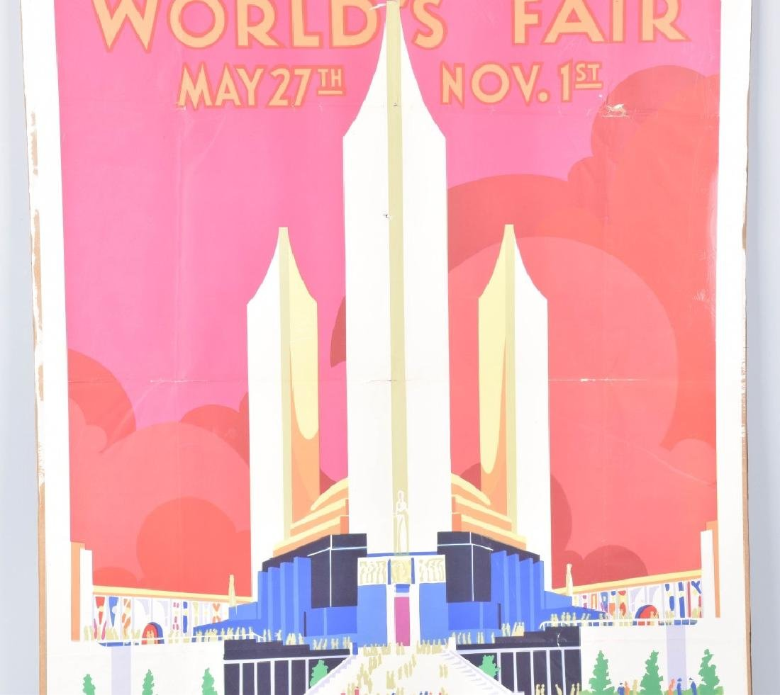 1933 CHICAGO WORLDS FAIR POSTER By Weimer Pursell - 3