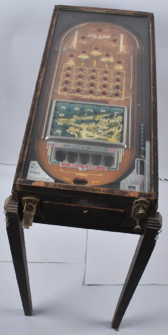 5c 1933 WORLDS FAIR JIGSAW PINBALL
