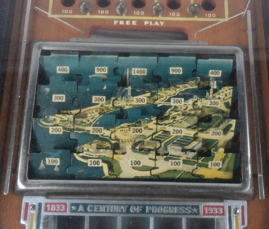 5c 1933 WORLDS FAIR JIGSAW PINBALL - 4