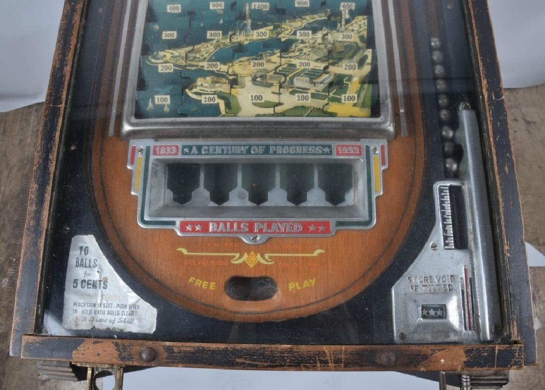 5c 1933 WORLDS FAIR JIGSAW PINBALL - 5