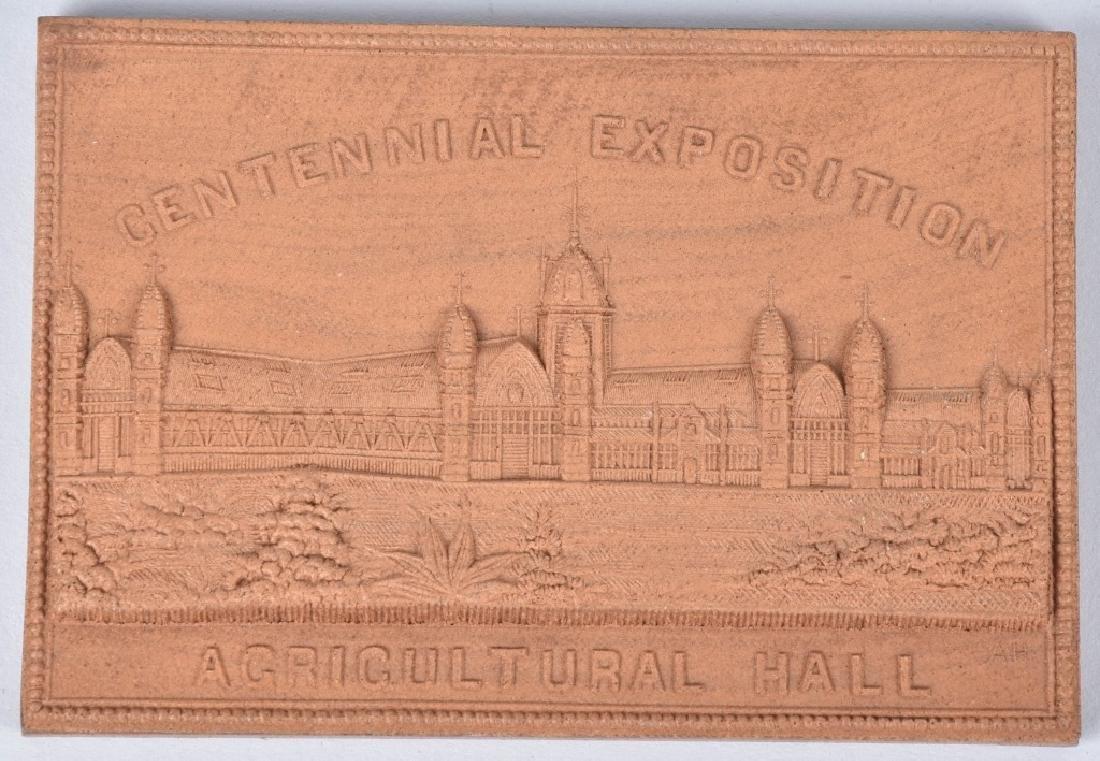 3- 1876 CENTENNIAL EXPOSITION WOOD PLAQUES - 2