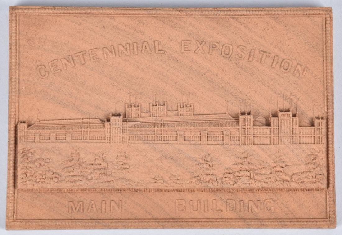 3- 1876 CENTENNIAL EXPOSITION WOOD PLAQUES - 3