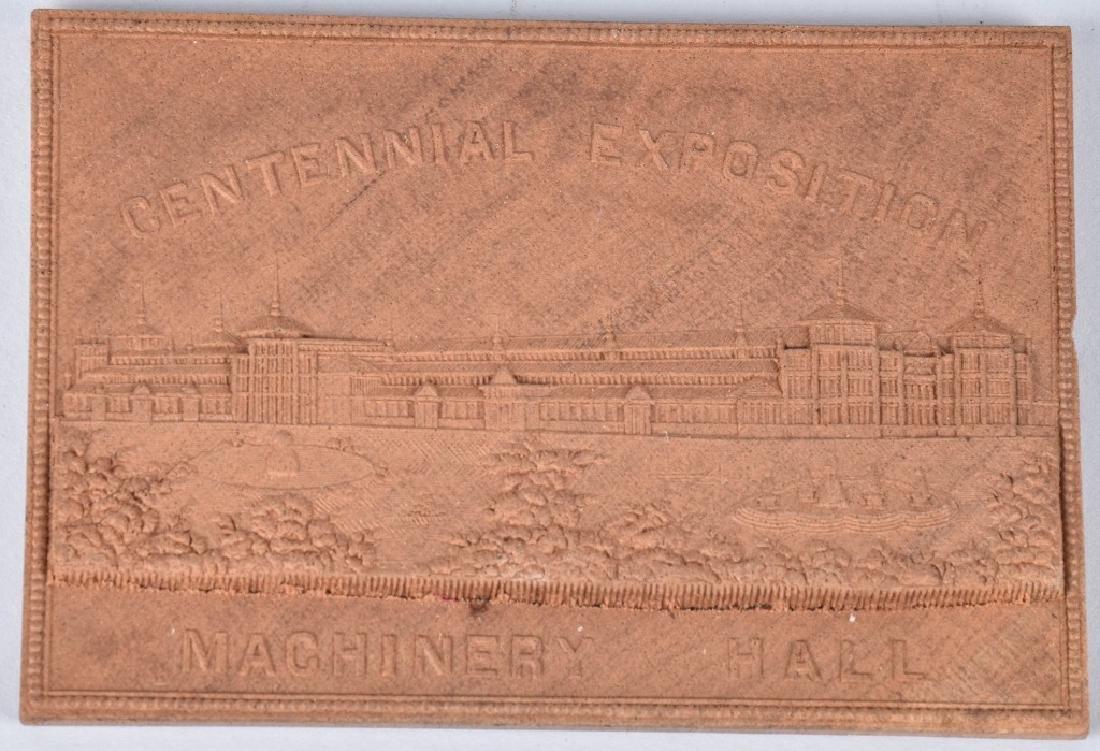 3- 1876 CENTENNIAL EXPOSITION WOOD PLAQUES - 4