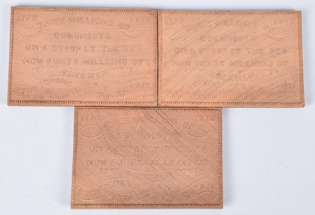 3- 1876 CENTENNIAL EXPOSITION WOOD PLAQUES - 5