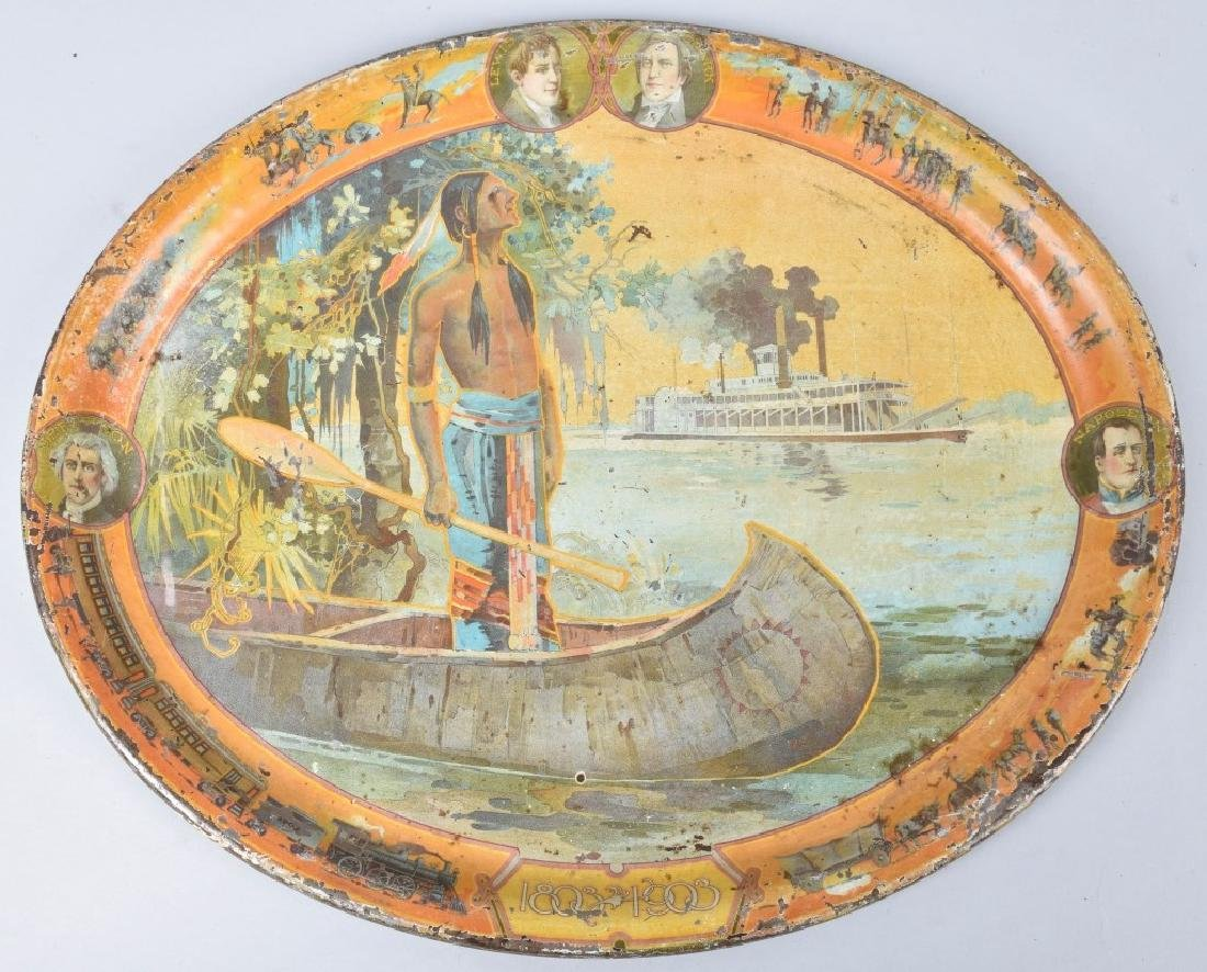 2- 1903 & 1933 WORLDS FAIR SERVING TRAYS - 2