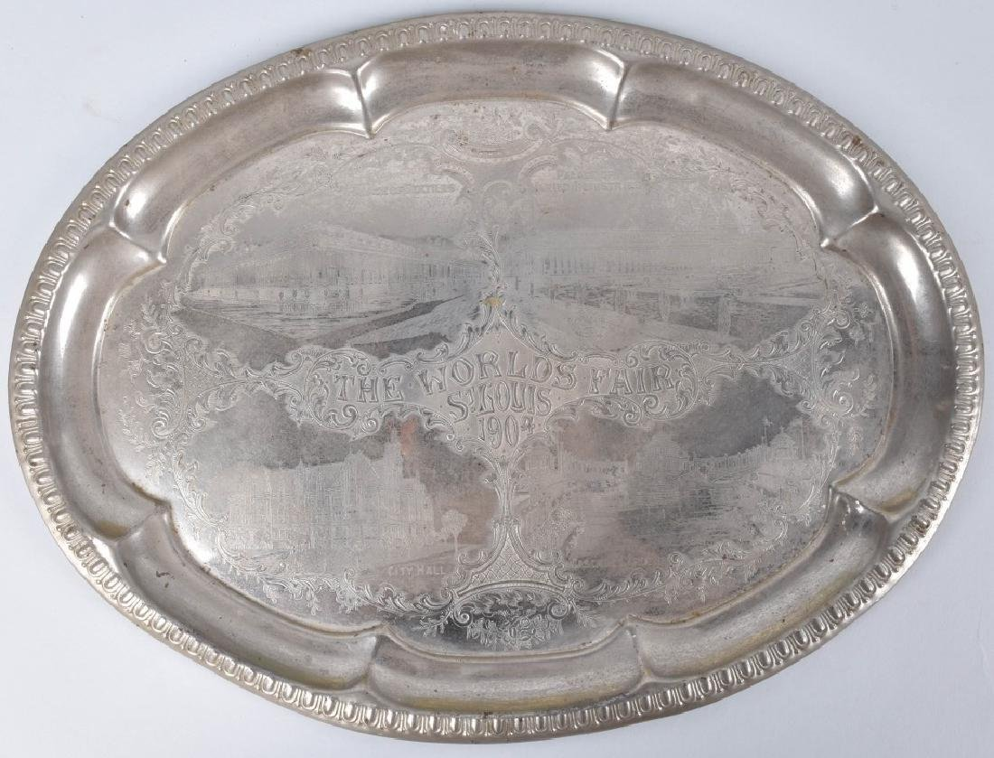 2- 1903 & 1933 WORLDS FAIR SERVING TRAYS - 4