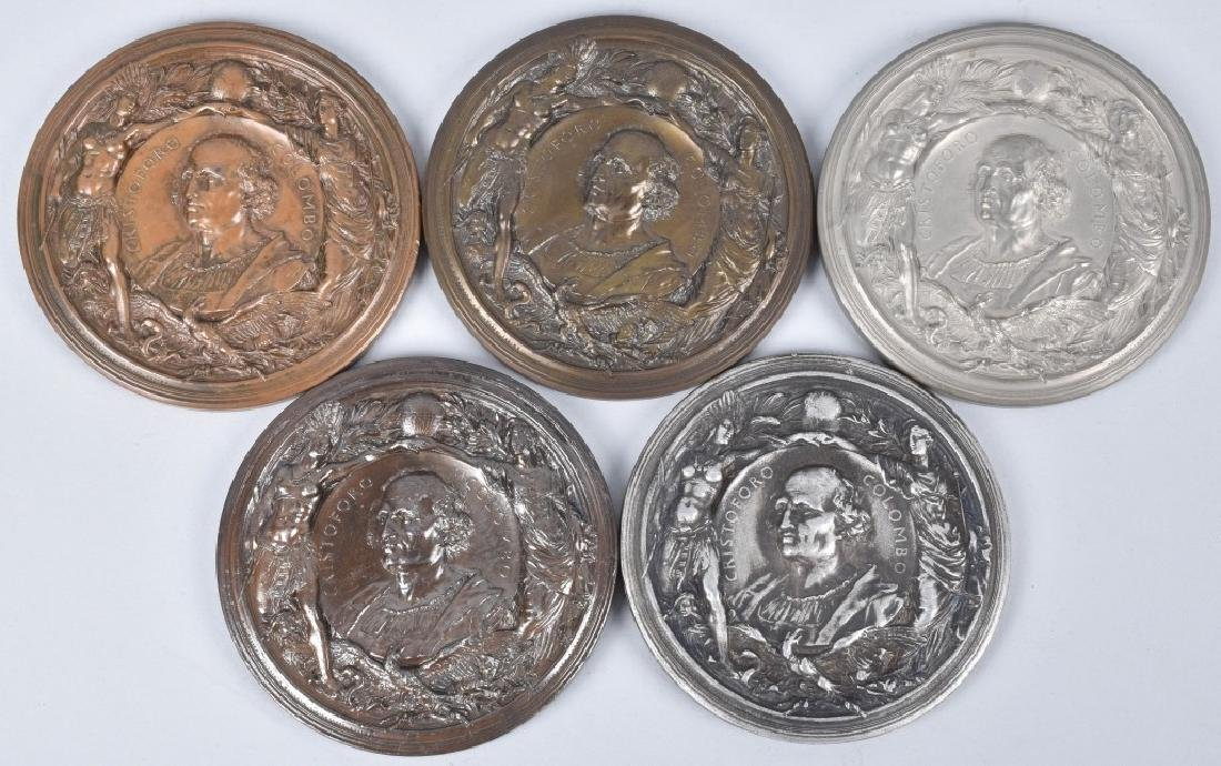 5 1893 COLUMBIAN EXPO CHRISTOPHER COLUMBUS MEDALS