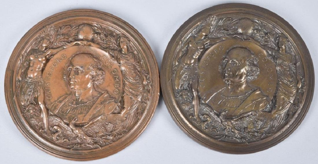 5 1893 COLUMBIAN EXPO CHRISTOPHER COLUMBUS MEDALS - 2