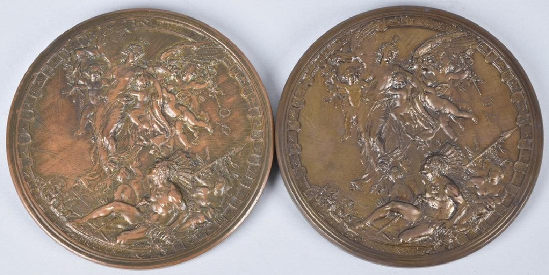 5 1893 COLUMBIAN EXPO CHRISTOPHER COLUMBUS MEDALS - 3
