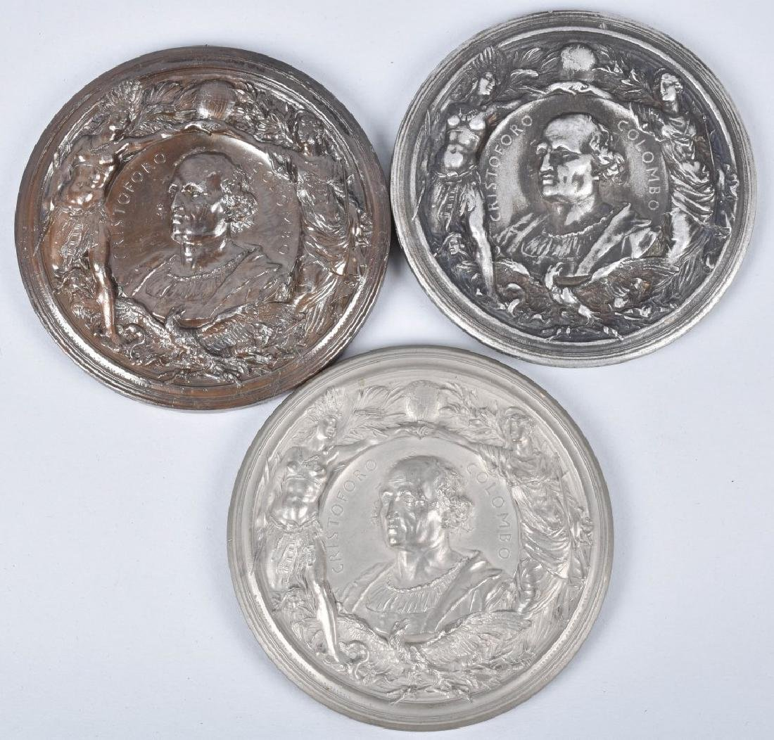 5 1893 COLUMBIAN EXPO CHRISTOPHER COLUMBUS MEDALS - 4