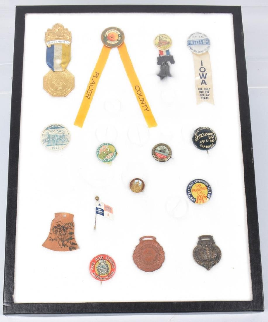 1915 PANAMA PACIFIC EXPO PINS & BUTTONS
