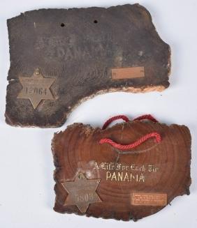 2- 1915 Panama Pacific Souvenir Plaques