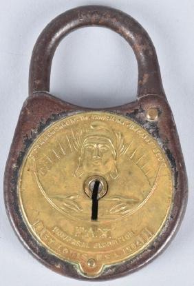 1904 St Louis Worlds Fair Souvenir Lock