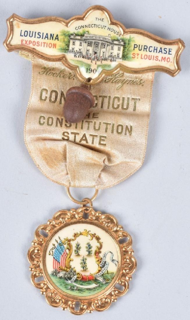1904 LOUISIANA PURCHASE EXPOSITION BADGE & RIBBON