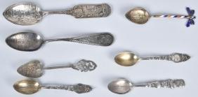 7- 1893 Columbian Expo Souvenir Spoons