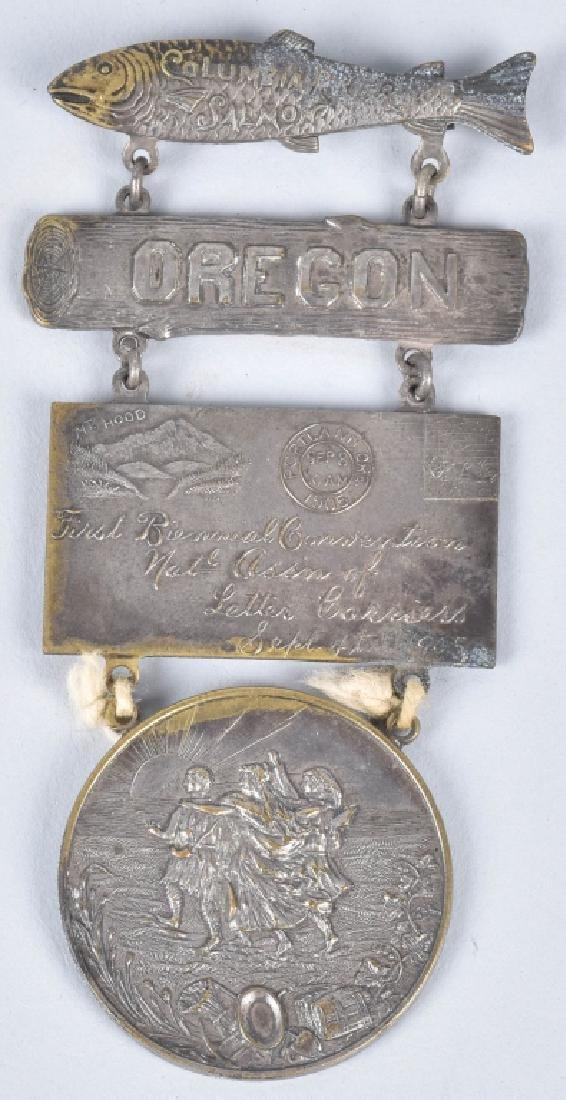 1904 1st BIENNUAL NAT ASSN LETTER CARRIERS MEDAL