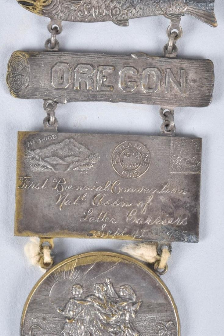 1904 1st BIENNUAL NAT ASSN LETTER CARRIERS MEDAL - 3