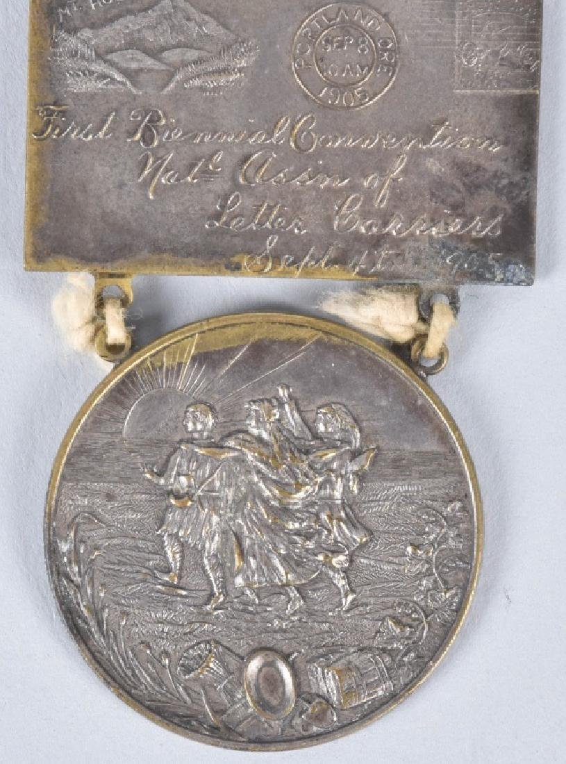 1904 1st BIENNUAL NAT ASSN LETTER CARRIERS MEDAL - 4