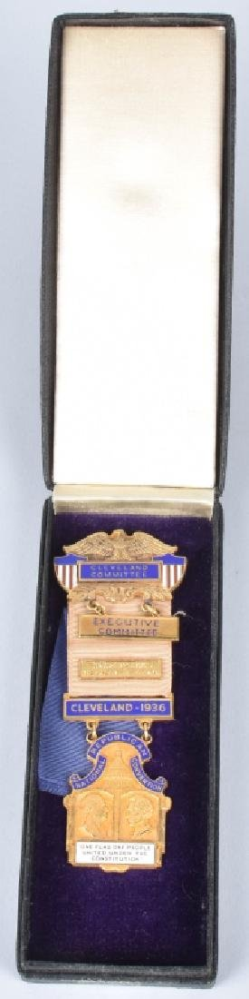 1936 CLEVELAND REPUBLICAN CONV. COMMITTEE BADGE