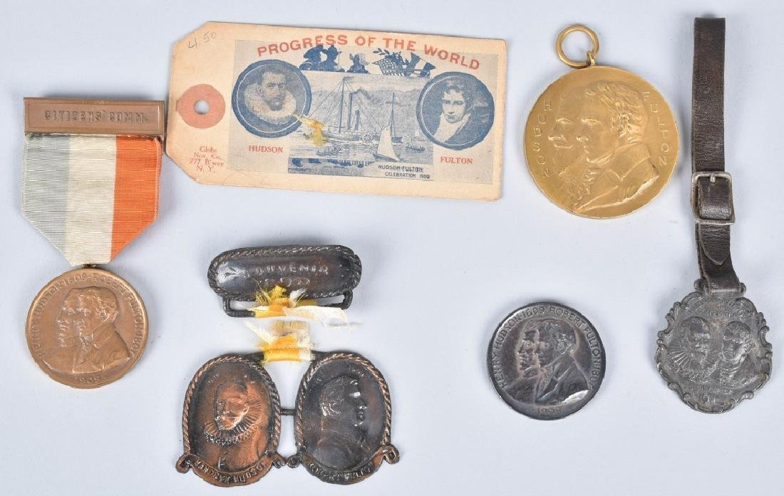 1909 HUDSON FULTON EXPO MEDALS & MORE