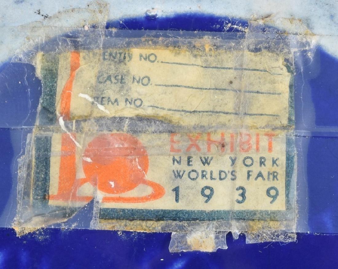 1939 NEW YORK WORLDS FAIR SOUVENIR POTTERY VASE - 5