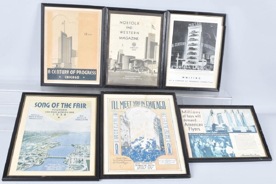 1933 WORLDS FAIR MAGAZINES, PAPERS, & ARVERTISING