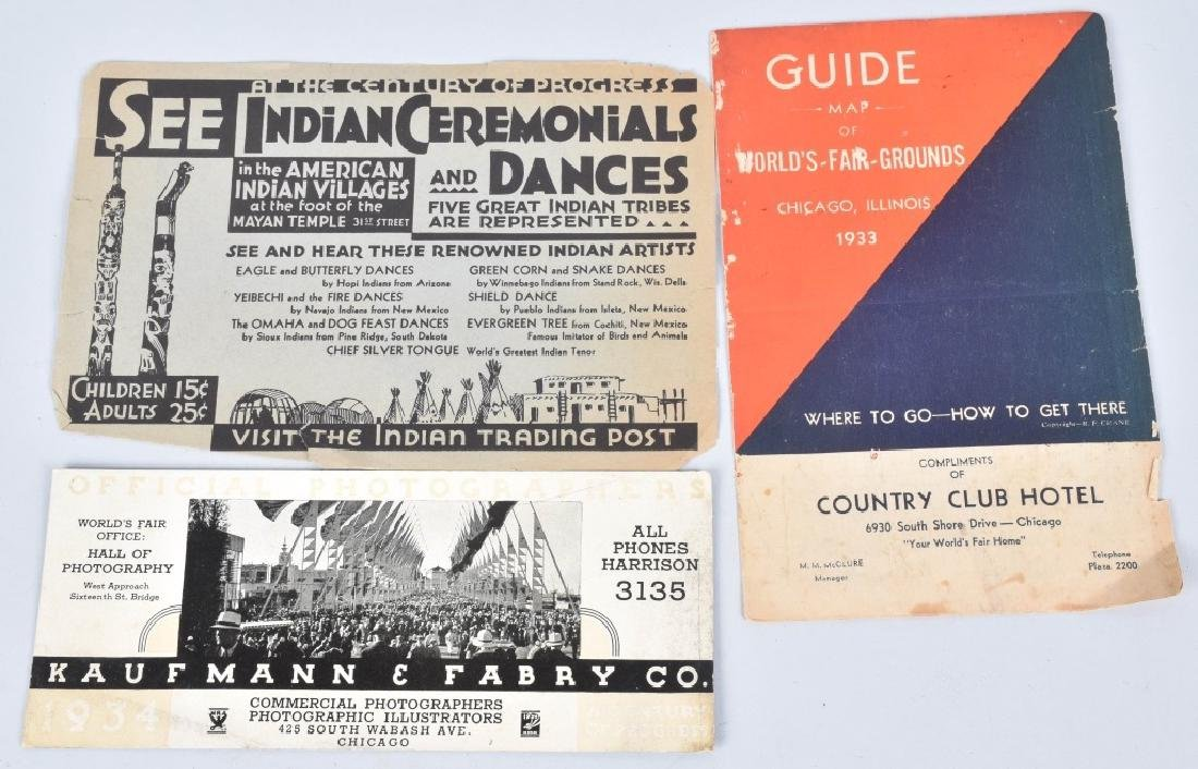 LOT OF 1933 WORLDS FAIR PAPERS - 3