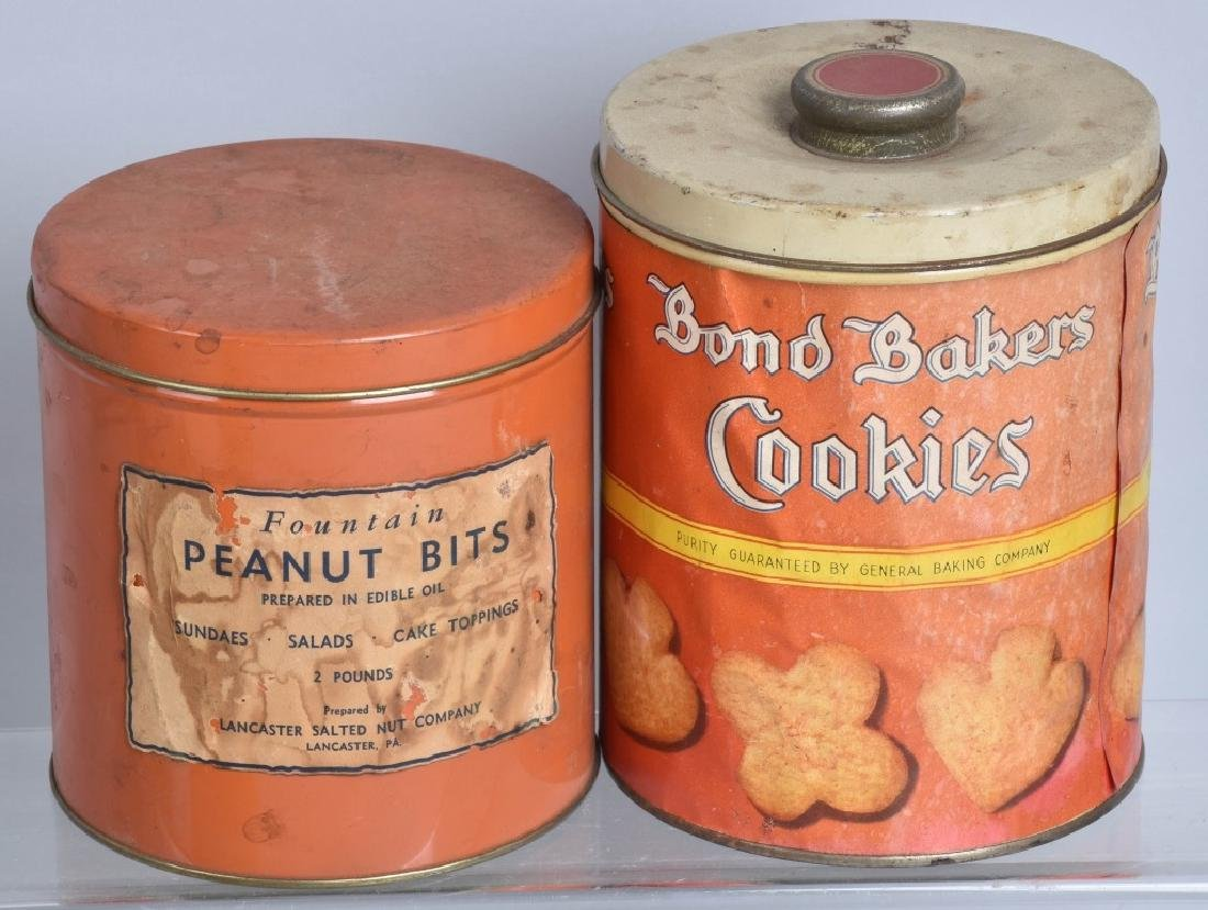5-VINTAGE CANDY and COOKIE TINS - 2