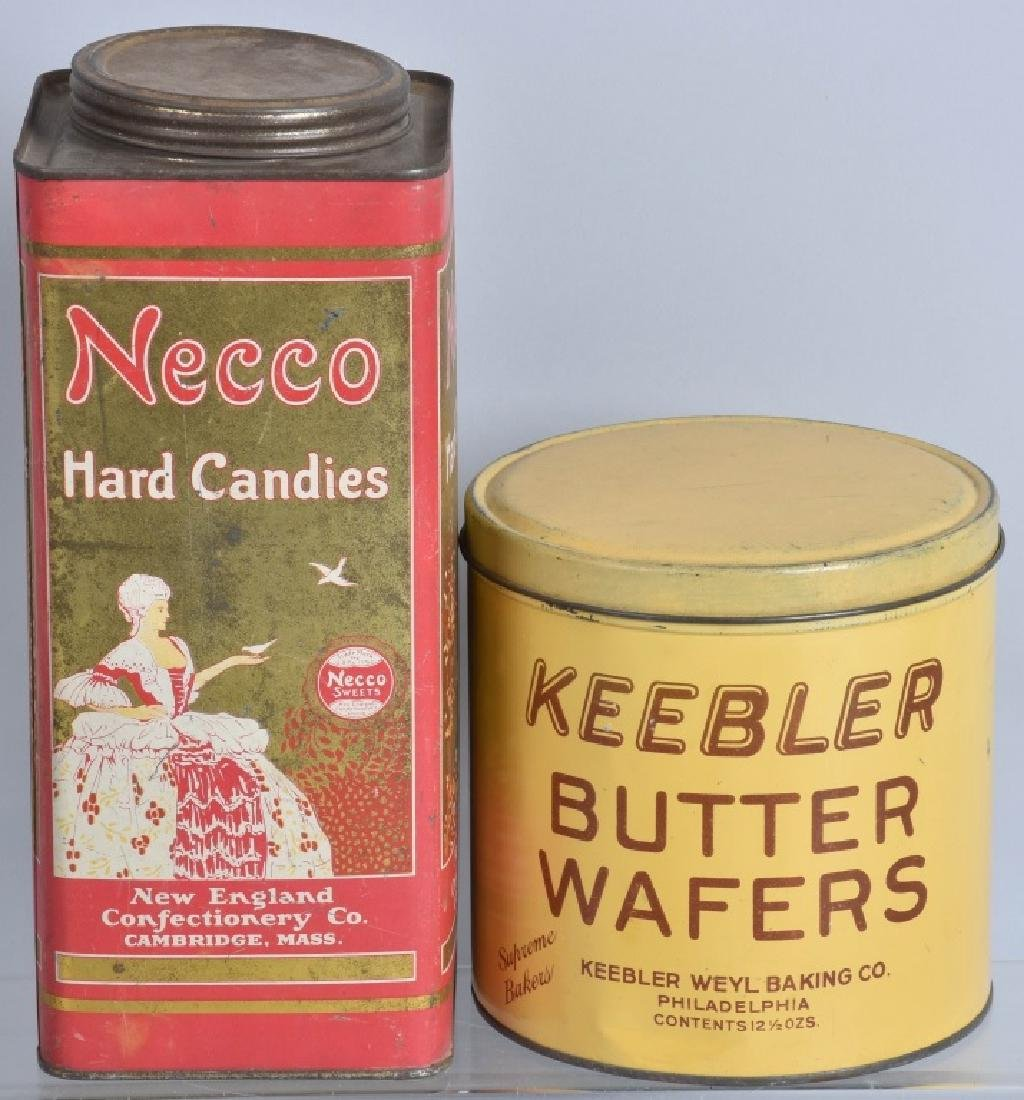 5-VINTAGE CANDY and COOKIE TINS - 3