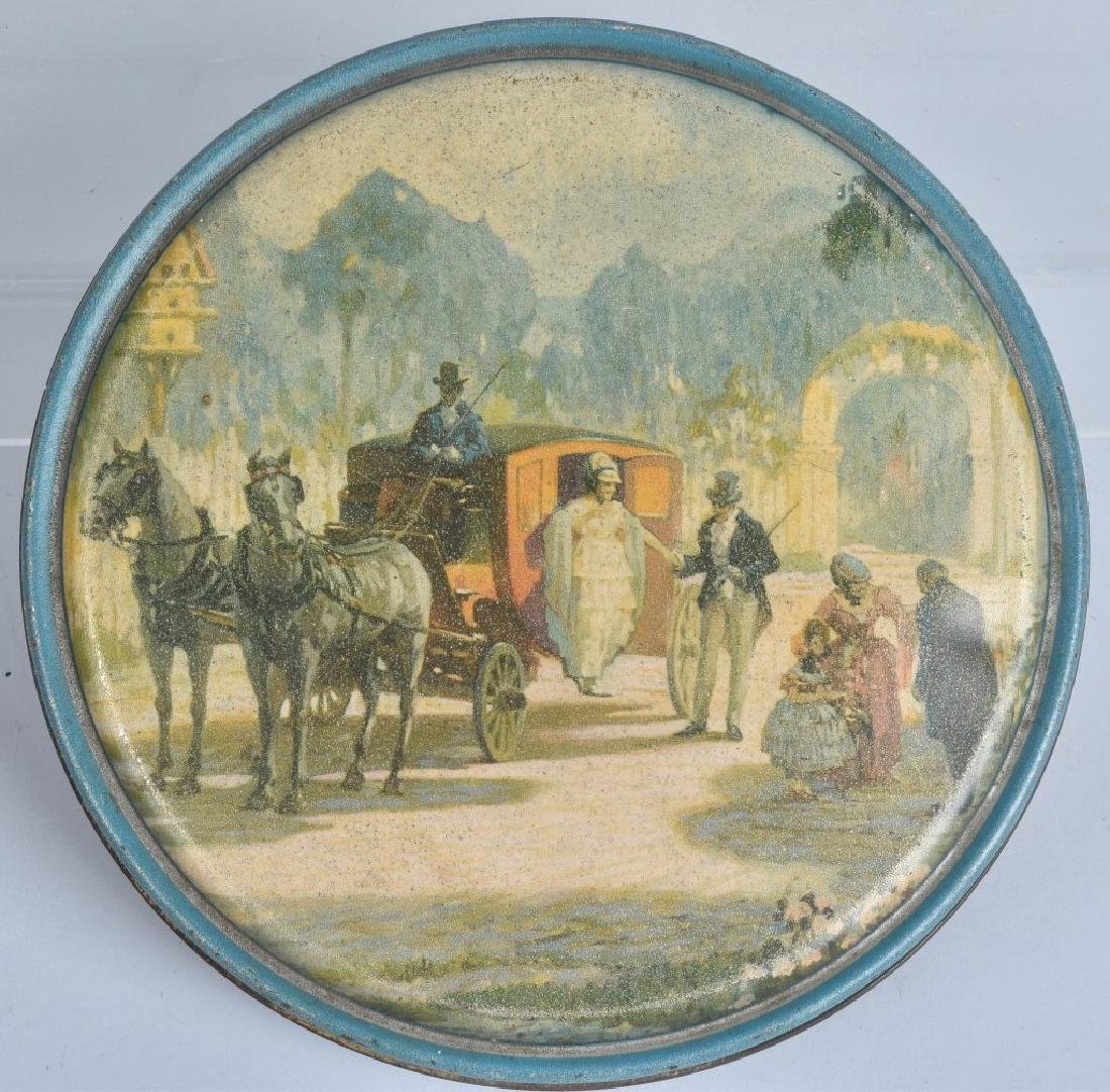 5-VINTAGE CANDY and COOKIE TINS - 4