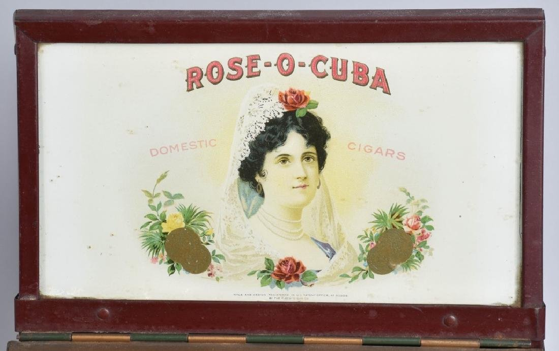 VINATGE ROSE-O-CUBA CIGAR TIN COUNTER DISPLAY - 2