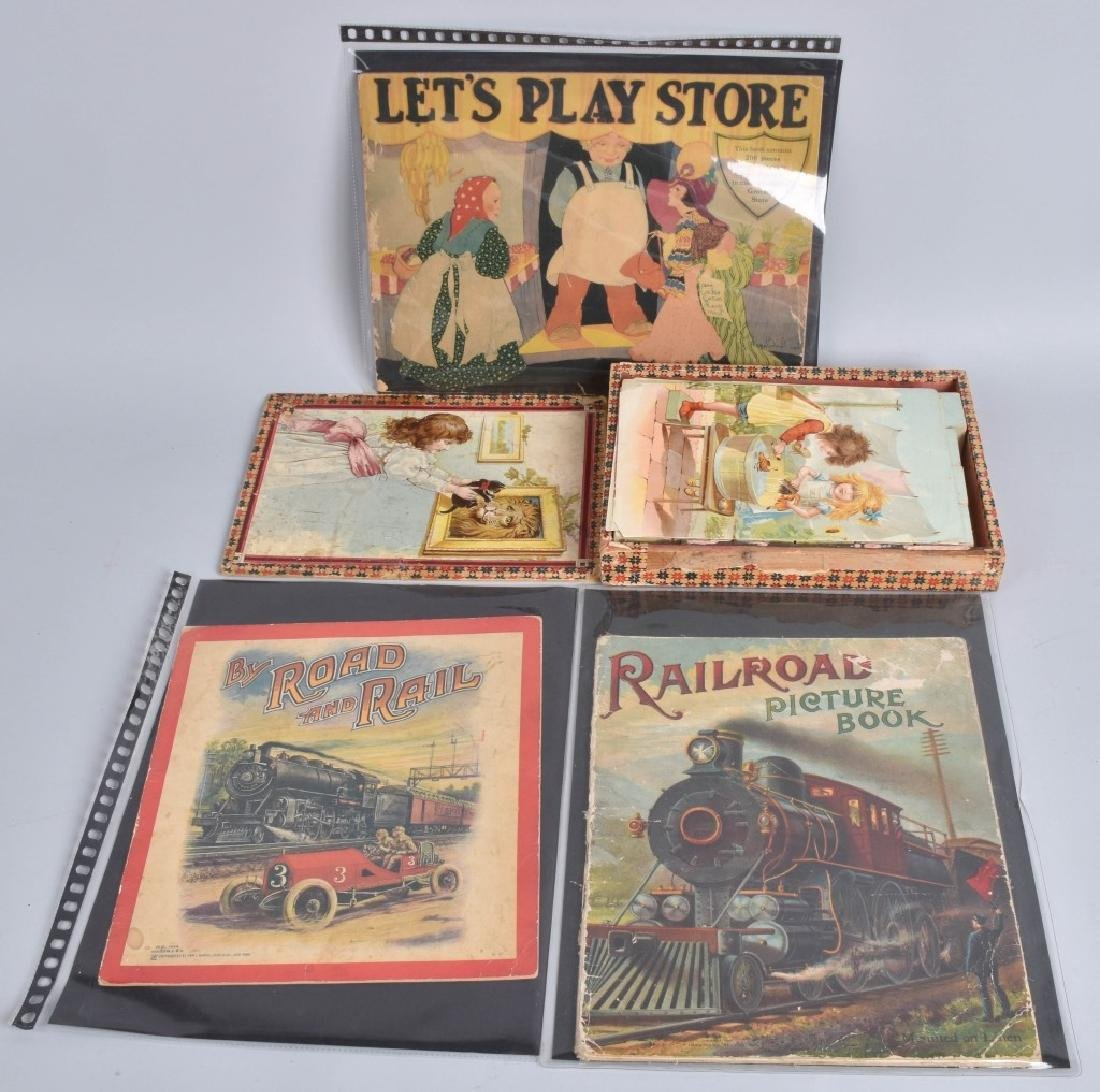 3-EARLY CHILDRENS BOOKS and BLOCK PUZZLE
