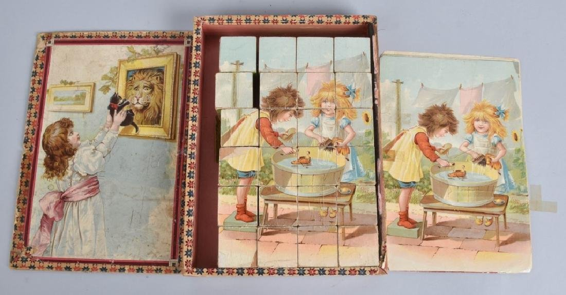 3-EARLY CHILDRENS BOOKS and BLOCK PUZZLE - 7