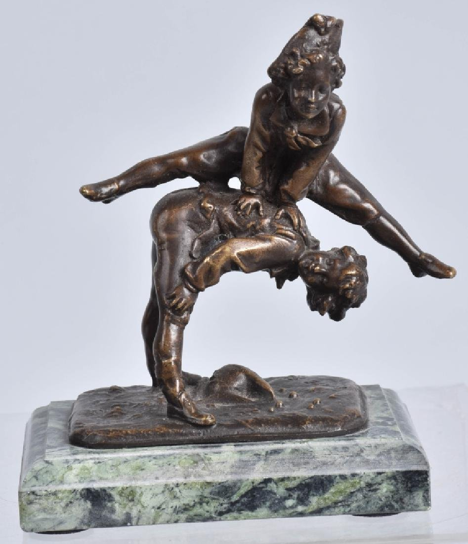 ALFRED BARYE LEAP FROG BRONZE FIGURE