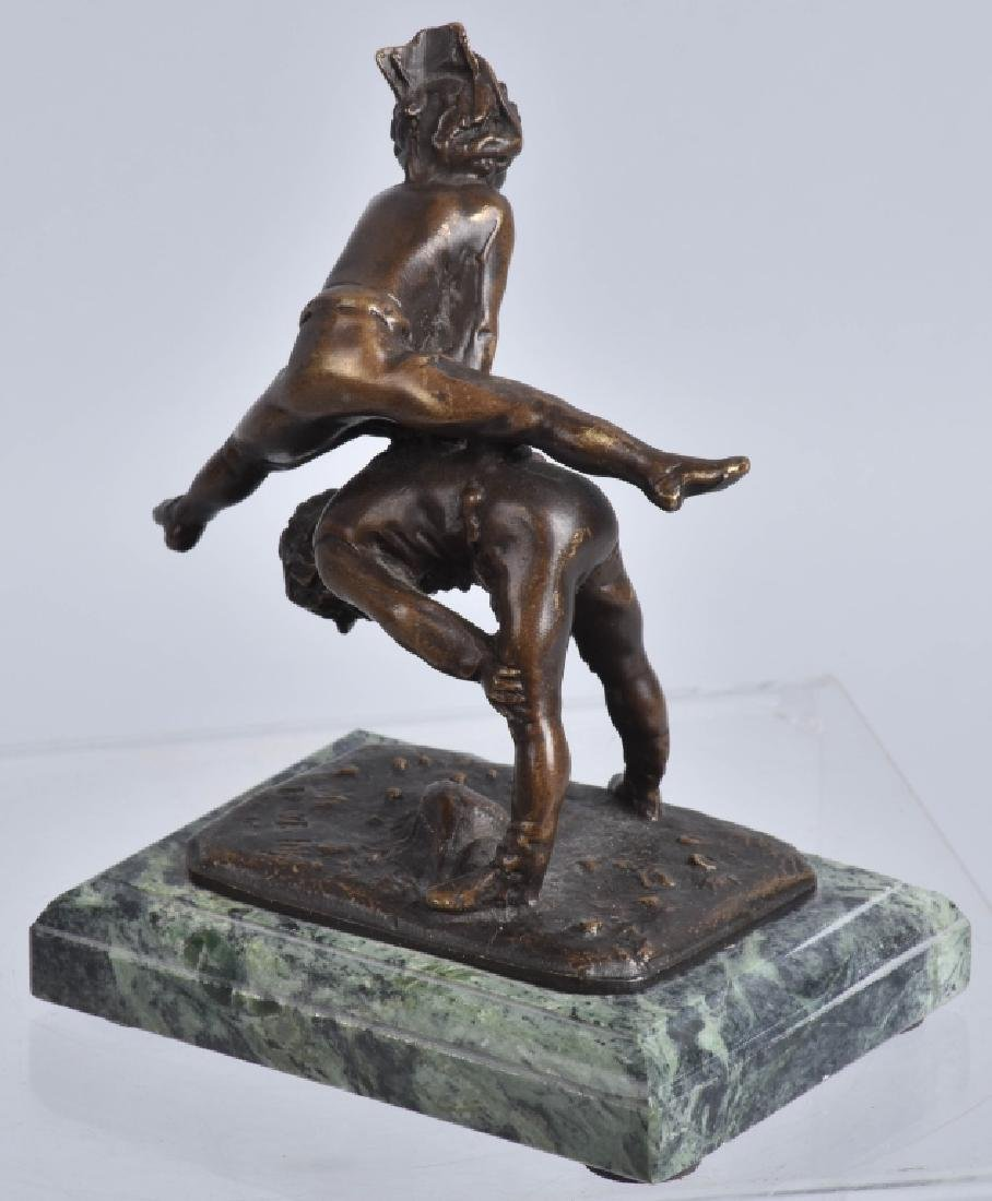 ALFRED BARYE LEAP FROG BRONZE FIGURE - 2